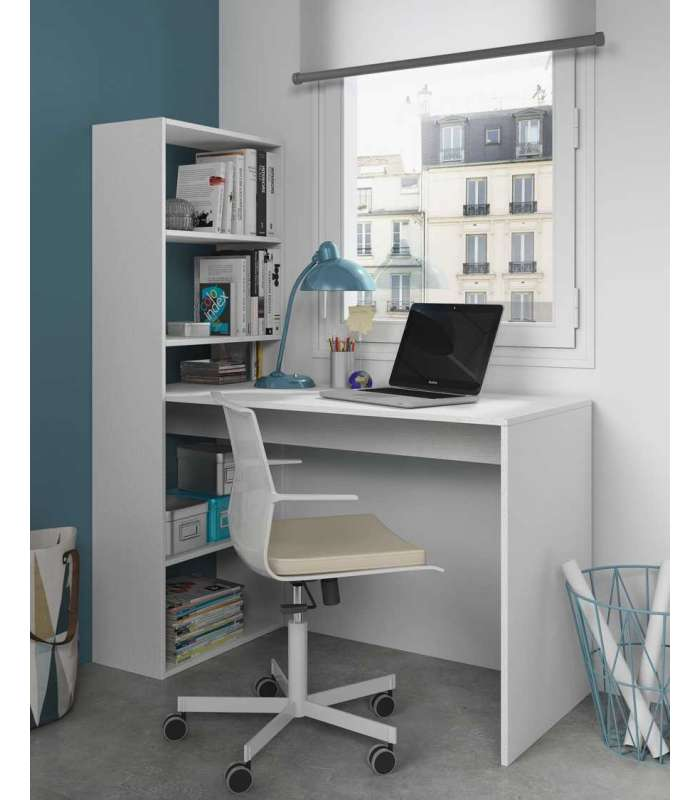 Desk with shelf Gio White Alps
