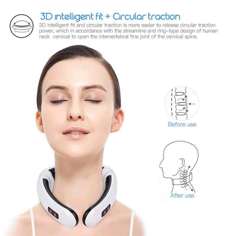 Massager Pain-Tool Relief Pulse-Neck Electric Health-Care Vertebra Magnetic-Therapy Relaxation