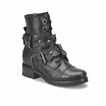 FLO R14998-BR733FLO czarne buty damskie BUTIGO tanie i dobre opinie Trzciny