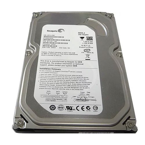 HDD hard drive 250GB 3.5 second hand