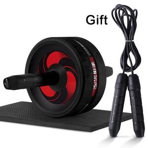 2 In 1 Ab Roller & Springtouw Geen Lawaai Abdominale Wiel Ab Roller Met Mat Voor Mannen En Vrouwen oefening Thuis Gym Fitness Apparatuur(China)