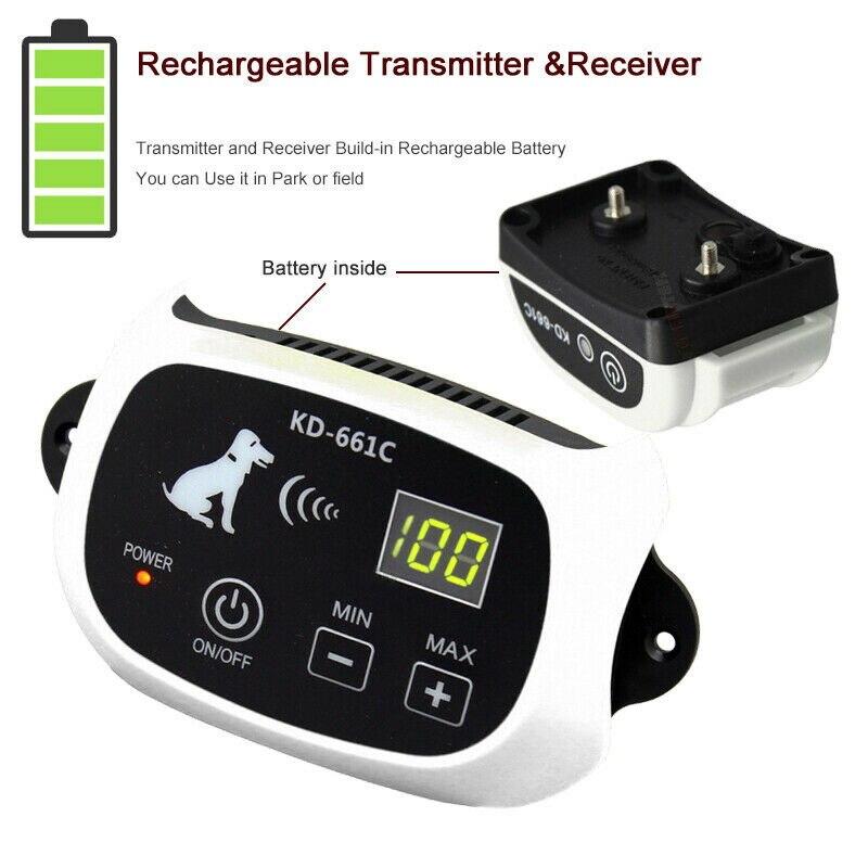 Электронный ошейник для собак для ограждения, система удержания, водостойкий забор с 1 ошейником 100g2280 - 4