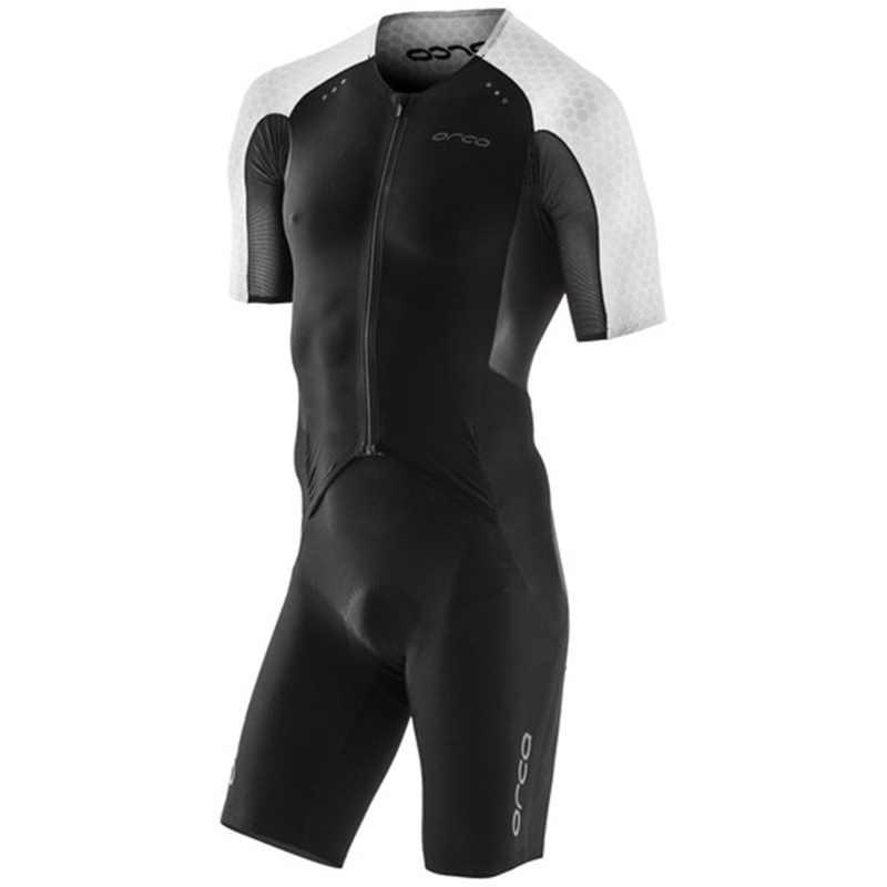 Deckra Men Short Sleeve Skinsuit Elite Aero Tri Suit Bike Short Top One Piece