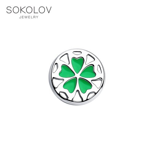 SOKOLOV Suspension Of Silver With Enamel Fashion Jewelry 925 Women's/men's, Male/female
