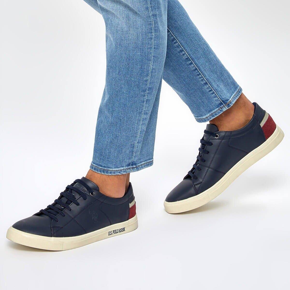 FLO SCOTT WT 9PR Navy Blue Men 'S Sneaker Shoes U.S. POLO ASSN.
