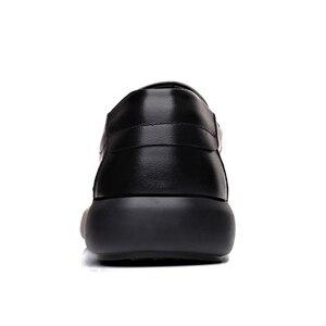 Image 3 - 2020 メンズ本革の靴 38 47 ヘッド革ソフトアンチスリップゴムローファー靴男カジュアル本物の革の靴