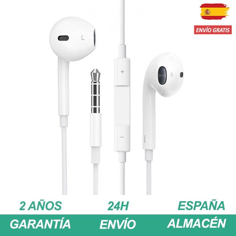 Auriculares Con Cable De Conector Lighting Con Microfono Mando A Distancia Sonido Estéreo Earphone Cascos Musica Para IPhone