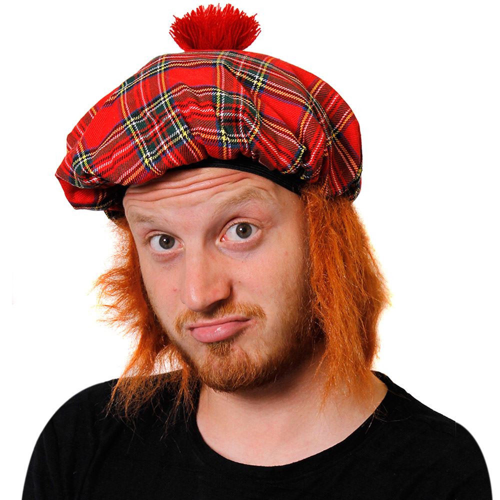 Scotish Tam-O-Shanter with Hair Deluxe