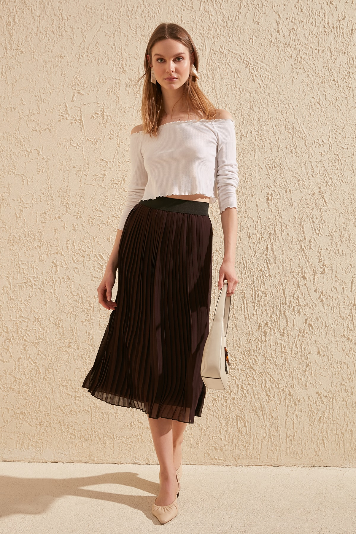 Trendyol Piliseli Skirt TWOSS20ET0023