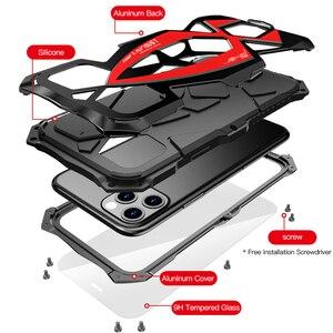 Image 5 - Luphie 高級スポーツカーケース iphone 11 プロマックス耐衝撃装甲アルミケース iphone X XS 最大 XR シリコーンカバー Funda