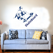 New Skate Boarding Boy Tricks Wall Sticker Room Decoration Hot Selling Decal  A0073
