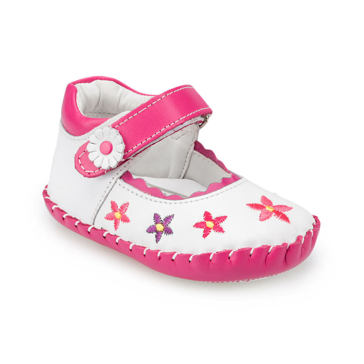 FLO 91.511387.I White Female Child Shoes Polaris