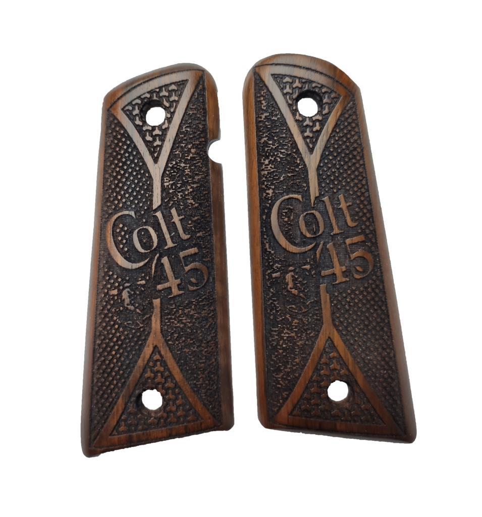 Colt Edition 1911 Custom Laser Cut Wood Inlay Grips Mod.02