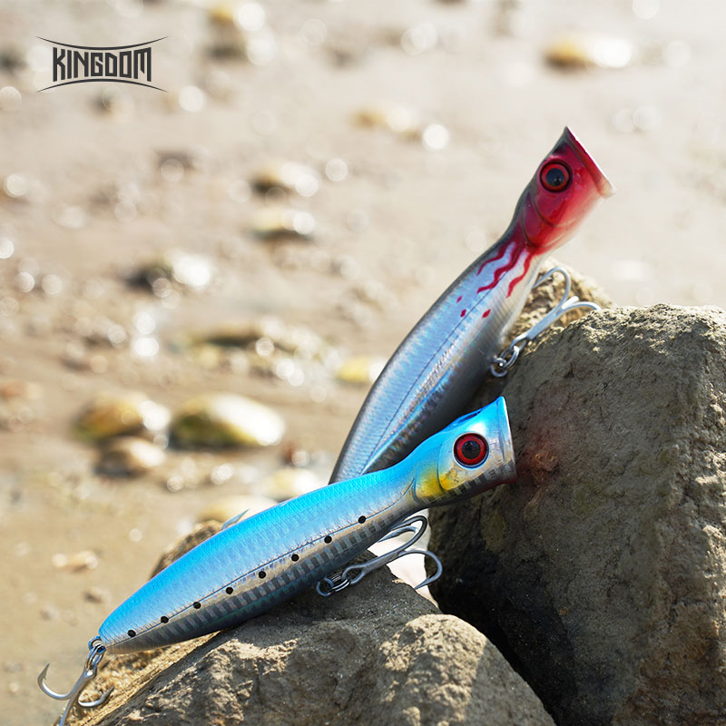 ALI shop ...  ... 32673692646 ... 5 ... Kingdom Popper Floating Wobblers Sea Fishing 8cm/10cm/13cm Fishing Hard Lure Artificial Plastic Bait Strong Hook Model 5285 ...