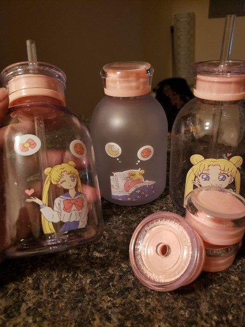 RUIDA Sailor Moon Transparent Plastic water Bottle Cartoon Frosted water Bottles Leak proof Drinkware Cute Student Girl Gift Cup|Water Bottles| |  - AliExpress