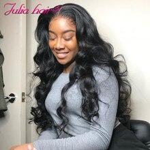 Ali Julia волосы полностью кружевные парики бразильские объемные волнистые человеческие волосы парик предварительно выщипанные волосы remy 150% Плотность