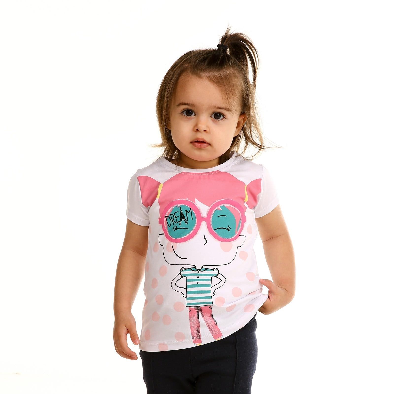 Ebebek Tuffy Crew Neck Pinky Baby Girl Tshirt