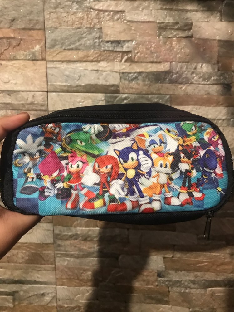 16 Inch Mario Bros Sonic The Hedgehog School Bag For Kids Boy Backpack Children School Sets Pencil Bag Toddler Schoolbag photo review
