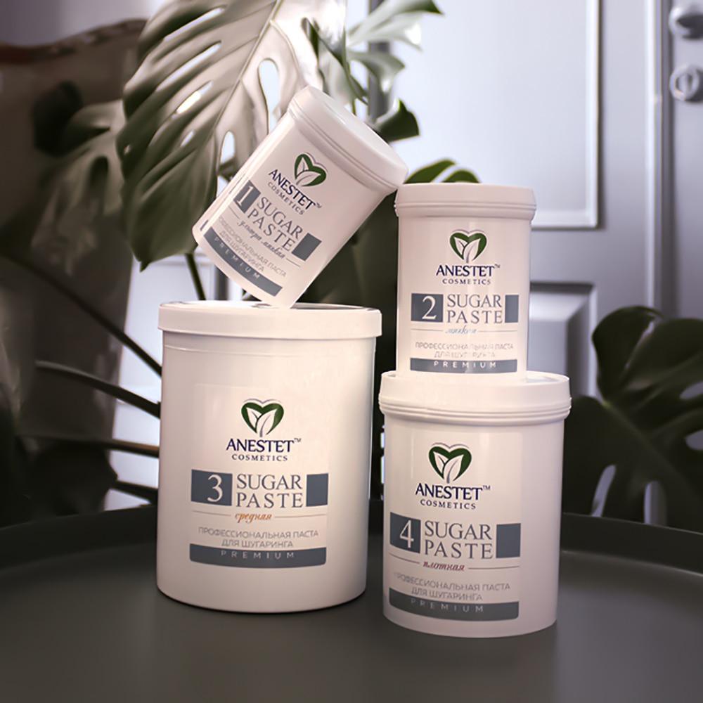 Sugar Paste For Sugaring, ANESTET Dense 4, 330 Gr. Hair Removal, Depiladora, Depilacion, Facial Hair Remover, Epilation Waxing