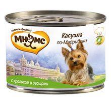 Корм для собак МНЯМС Pro pet Касуэла по-Мадридски, кролик, овощи конс. 200г