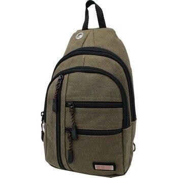 Seventeen 3473 Canvas Body Bag Messenger Khaki
