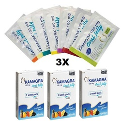 3 Men K Oral Jelly - kamagra - 3 x 7 Assorted Fruit Flavors - 3 Week Pack