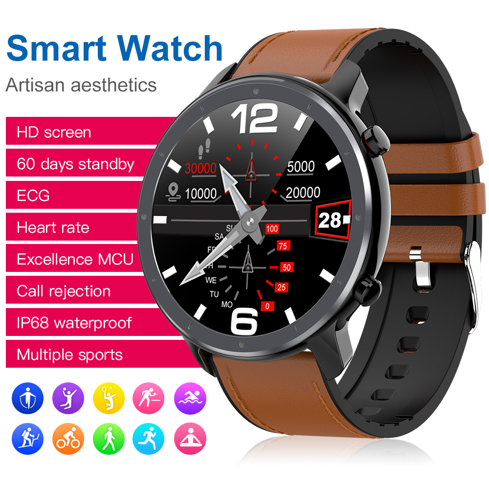 L11 Smart Watch Man/Women 2020 Ip68 Ecg Ppg Smartwatch Blood Pressure Monitor Sport Fitness Watch For Ios Android Smartwatch