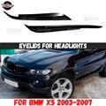 Веки на фары чехол для BMW X5 E53 2003-2007 ABS пластиковые накладки реснички для бровей аксессуары Тюнинг Автомобиля
