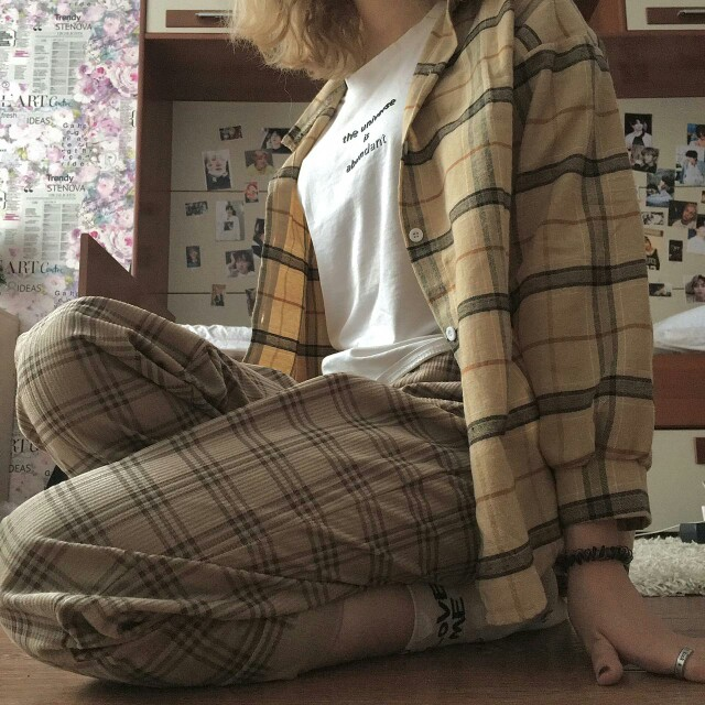 Grunge Women Loose Blouses photo review