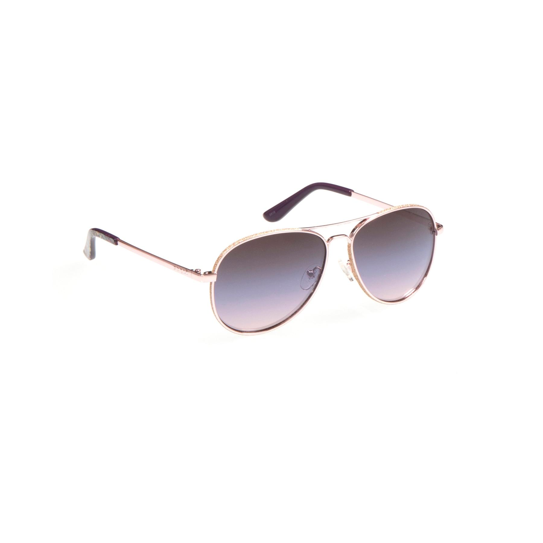 Women's sunglasses gu 7555 28u 59 metal pink organic drop pilot 59-14-140 guess