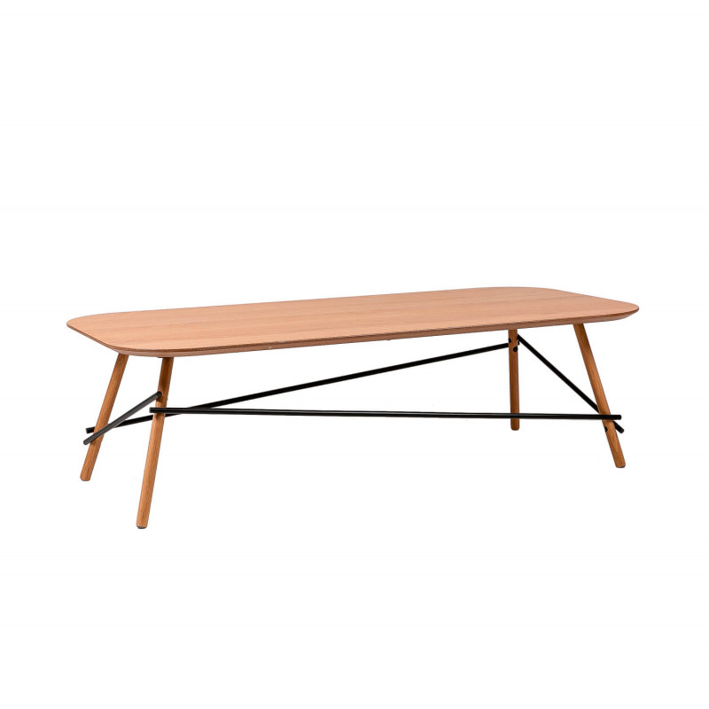Table ERNY Center's Oak, Table sofa, Table auxiliary, Table's center <font><b>120x60</b></font> cm image