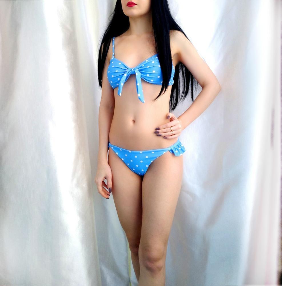 Sexy Polka Dot Bikini Women 2020 Two Piece Swimsuit Push Up Swimwear Floral Side Bathing Suit Brazilian Beach Wear Swimming Suit|Bikini Set|   - AliExpress