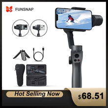 Funsnap Capture2 3Axis Handheld Gimbal Stabilizer For Smartphone Samsung Iphone Gopro Camera Action EKEN  Gimbal Kit IOS Android