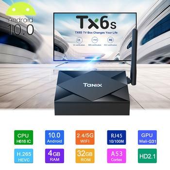 Smart Tv Box Android 10 4g 64gb Tx6s Android 10 Tvbox Allwinner H616 Quad Core Dual Wifi Bluetooth Youtube Netflix Media Player