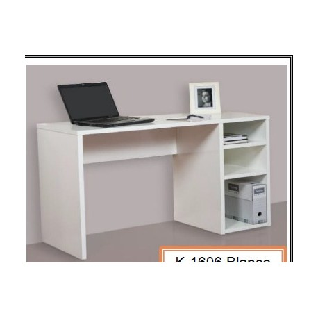 Study Table With Shelves Oak Or White.