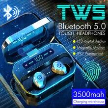 P10 3500 7000mahワイヤレスbluetooth 5.0 イヤホンノイズキャンセルヘッドフォンワイヤレスゲームヘッドセットledディスプレイイヤフォンpk S11 tws
