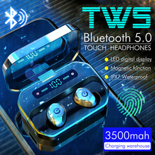 P10 3500mAh Wireless Bluetooth 5.0 Earphone Noise Canceling Headphones Wireless Gaming Headset LED Display Earbuds PK S11 TWS