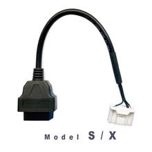 TESLA MODEL S/X adaptador OBD2 para escanear, modelo My Tesla