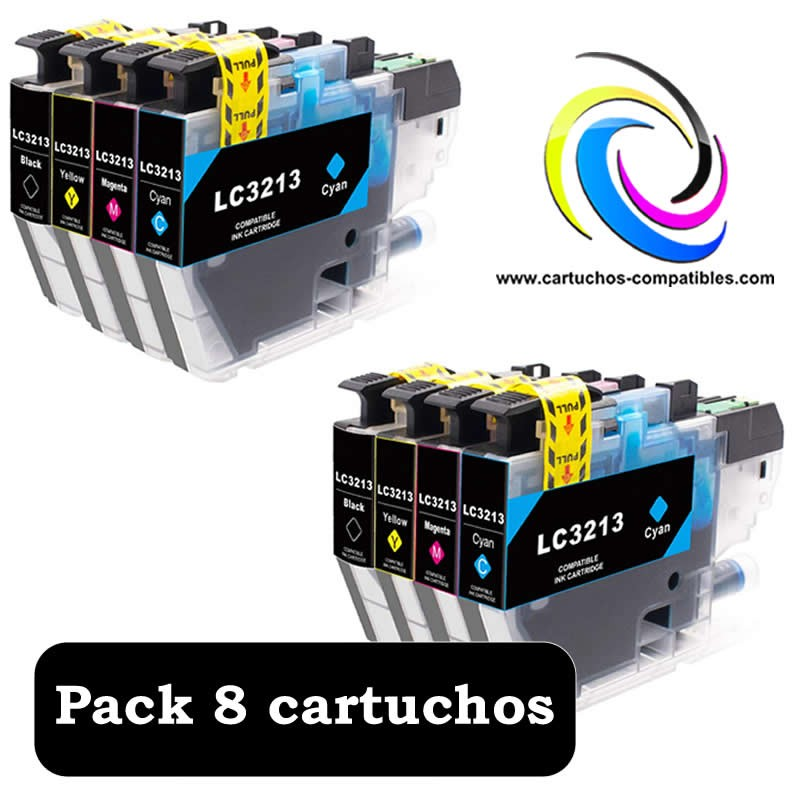 Brother Pack 8 LC-3211 LC-3213 LC3211 LC3213 For J497DW J572DW J772DW J772DNW J774DW J491DW J497DW J890DW J895DW