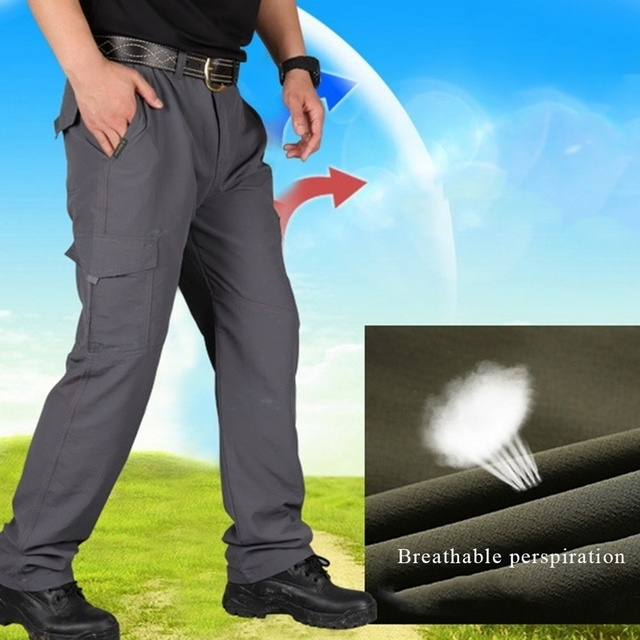 Men Lightweight Tactical Pants Casual Breathable Army Military Style Long Trousers Male Waterproof Quick Dry Cargo Pants Bottom 6