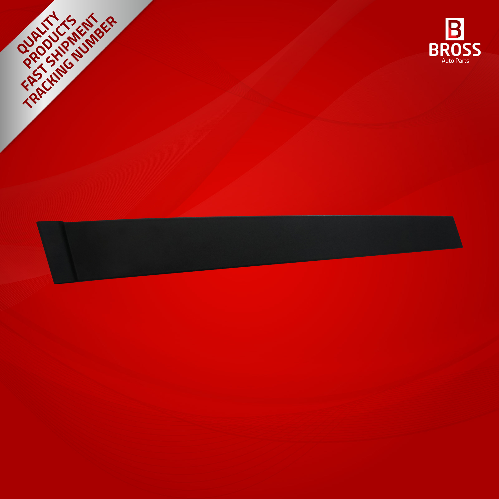 BDP871 Front LEFT Door Pillar Frame Trim Moulding 2S61A20899AM  1473674 With Sponge and Snap Ring Clips for Ford Fiesta MK5|Interior Door Panels & Parts| |  - title=