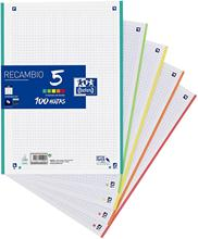 Oxford Classic-replacement sheets (format A4, 100 sheets, 5 band colors)