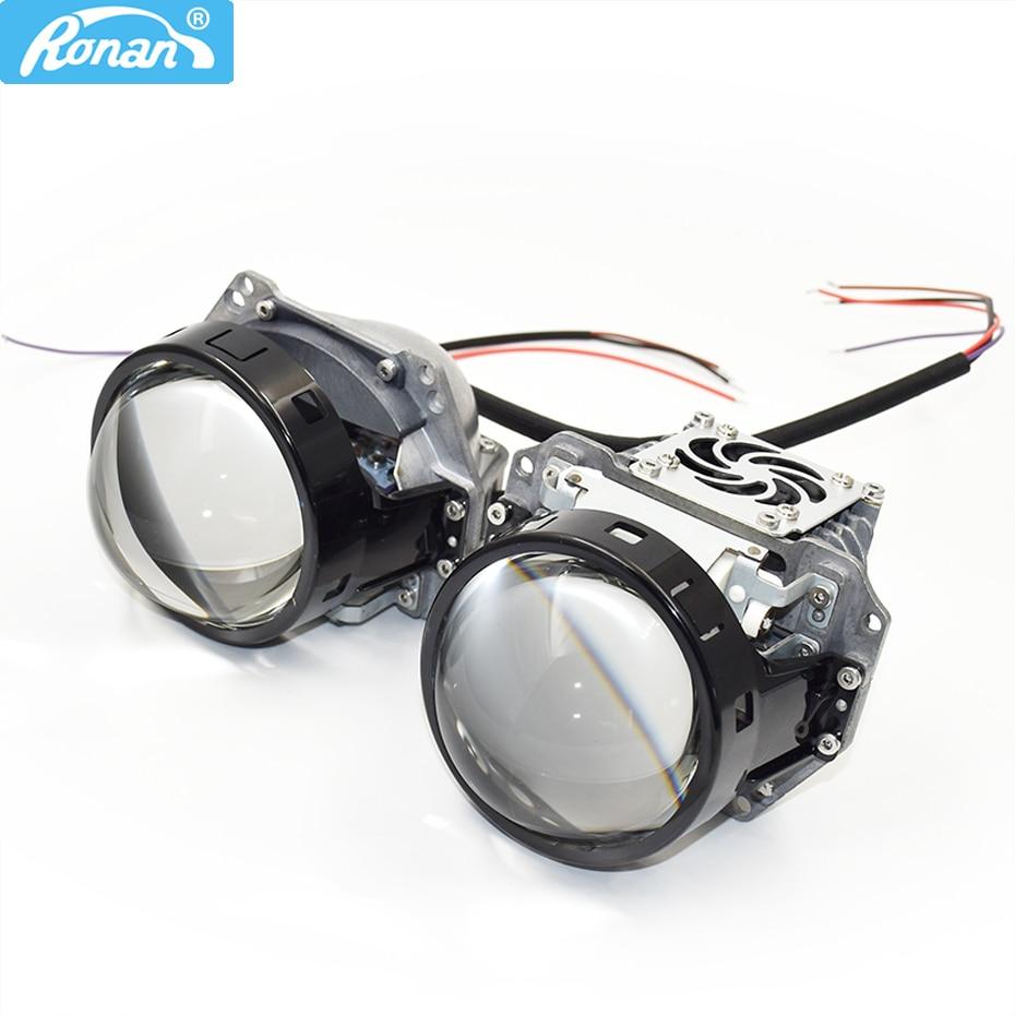 Ronan 3,0 bi led lente de proyector hella hole instalación 6000K 34W 38W 3200lm para la actualización universal de faros del coche