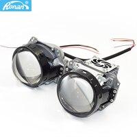 Ronan 3.0 bi led projetor lentes farol 3r g5 6000 k 34 w 38 3200lm universal farol do carro retrofit estilo Acessórios para luzes do carro     -