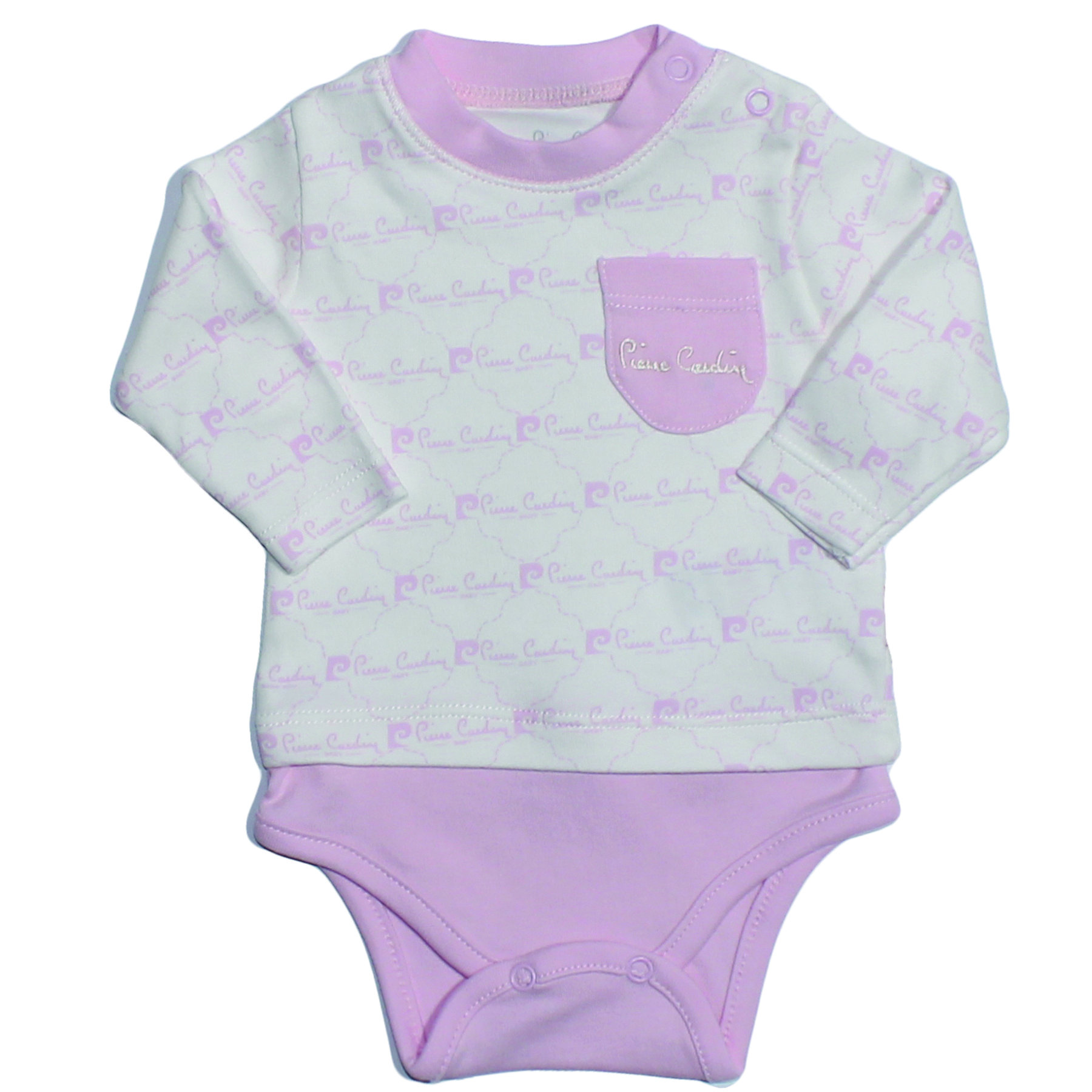 Pierre Cardin Cream Pink Printed Long Sleeve The Zibin