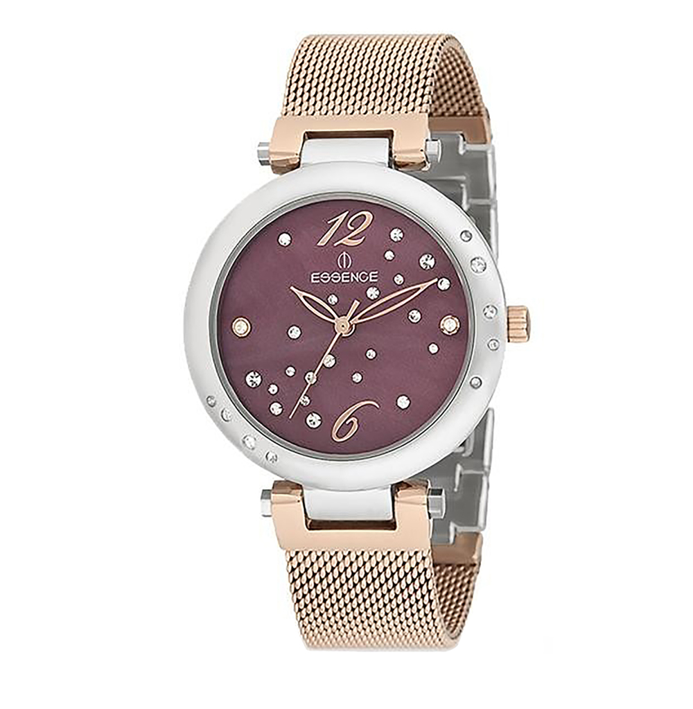 Women's Watch 580 On A Steel Bracelet With A Partial Pink IP Coating With A Mineral Glass Sunlight
