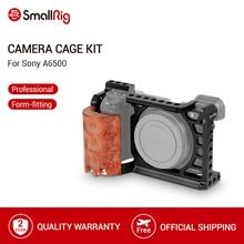 SmallRig A6500 kafesi ahşap el kavrama Sony Alpha A6500/ILCE 6500 kamera kafesi hızlı bırakma montaj kiti 2097