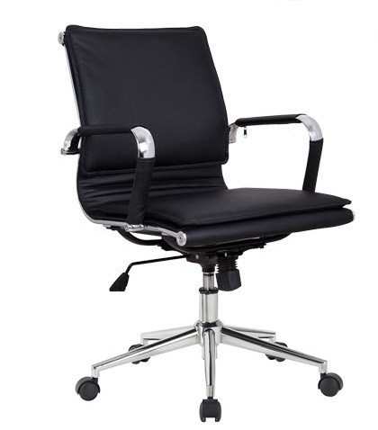 Office Armchair AMSTERDAM, Gas, Tilt, Similpiel Black