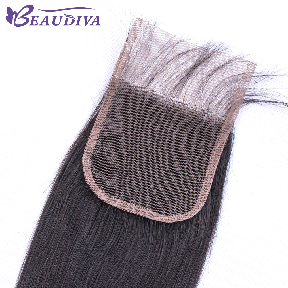 U9271e2f32c5d453bb9b06c707f21c7366 BEAUDIVA Human Hair Bundles With Closure Natural Color Peruvian Straight Hair Weave Bundles With Closure
