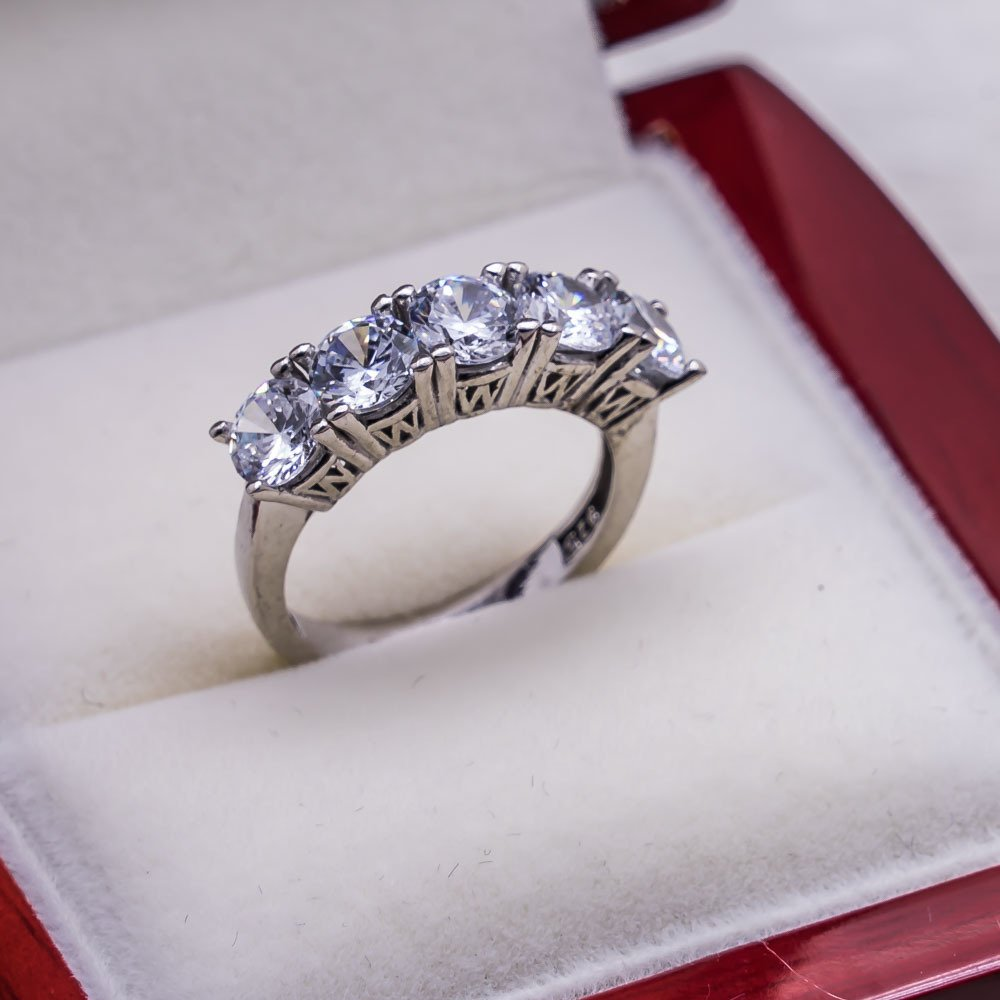 925 sterling Silver Dibs Lady Ring Model 12()